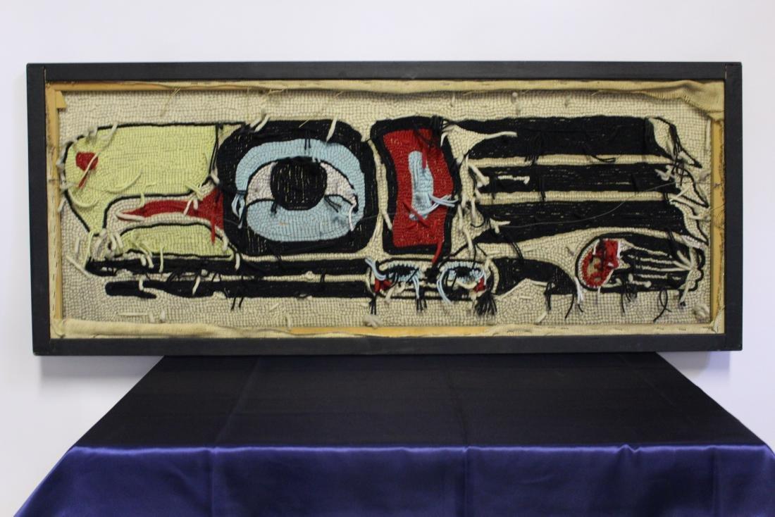 """Linda Wilson Framed Punch Rug """"Eagle Design"""" - 4"""