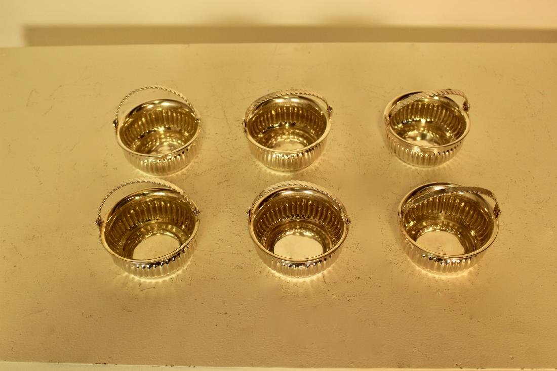 Six Silver Plate Articulated Handle Candy Dishes - 2