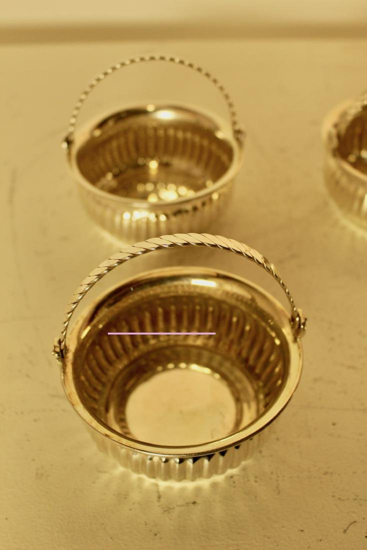 Six Silver Plate Articulated Handle Candy Dishes - 3