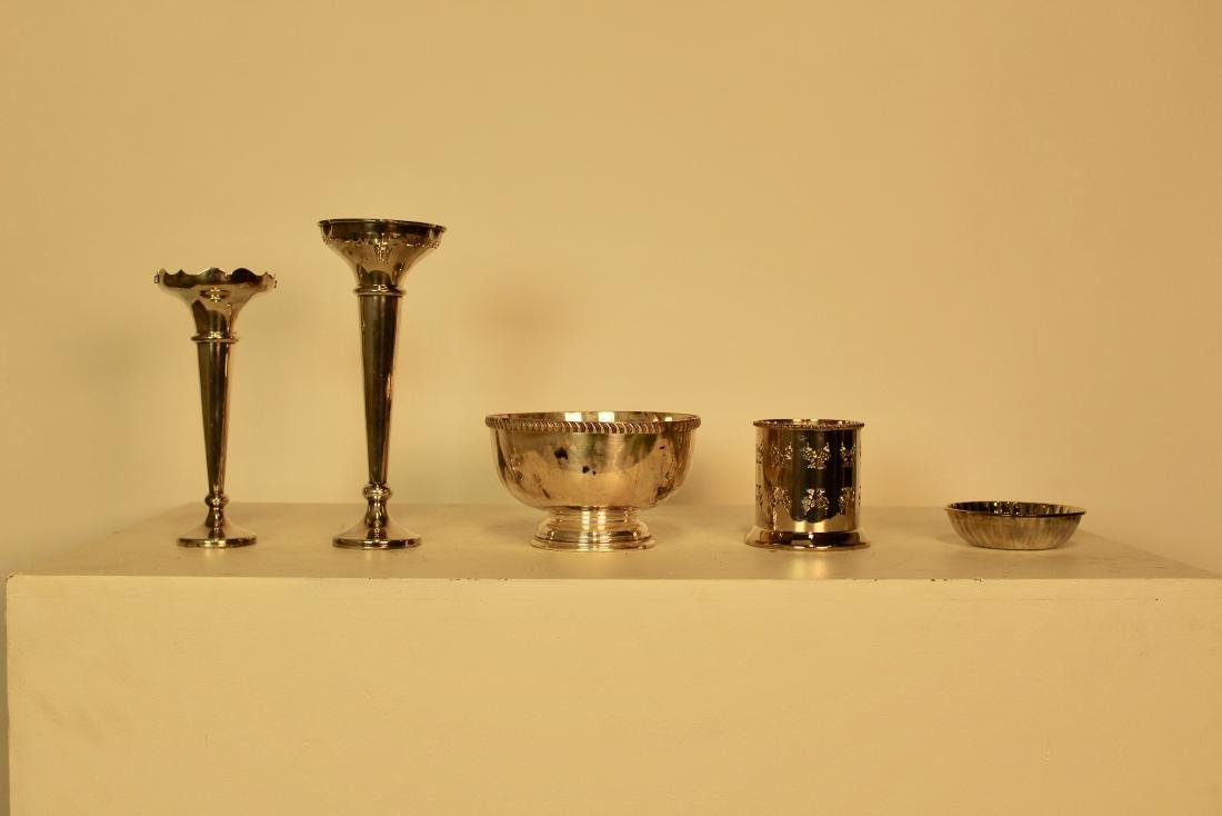 Five Silver Plate Pieces