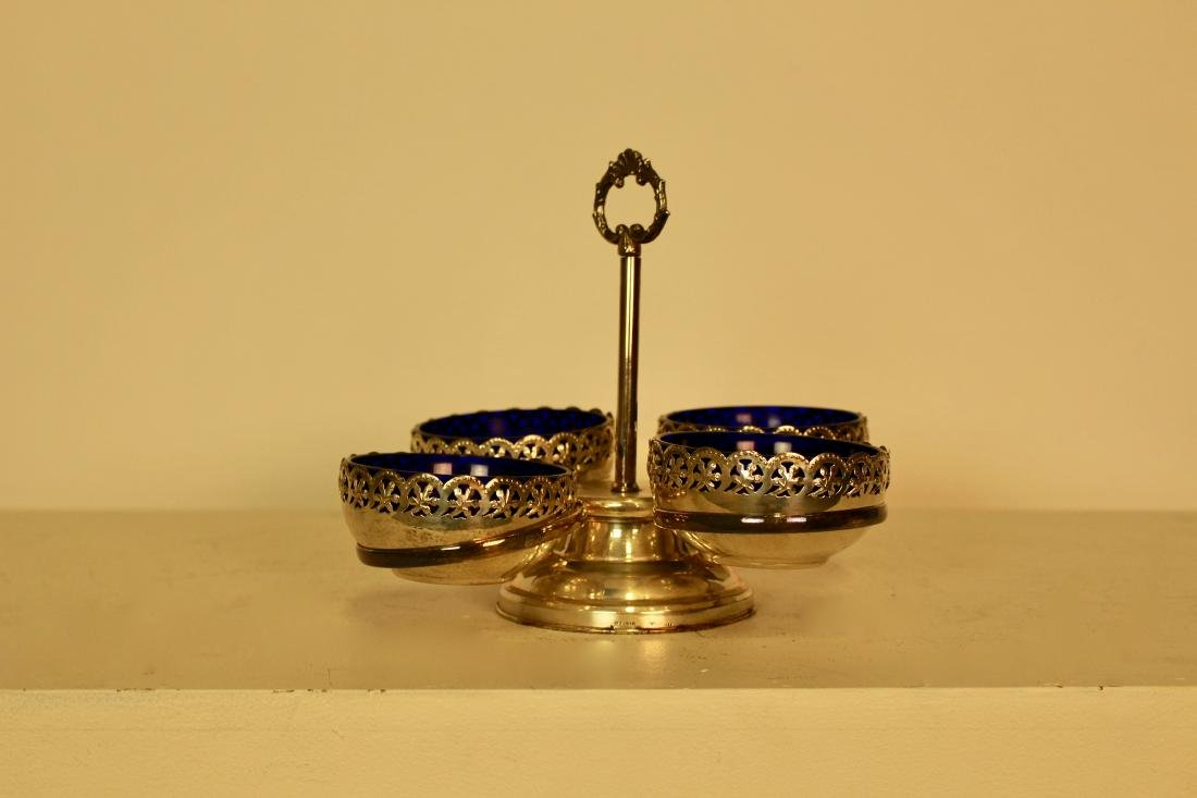 Silver Plate Serving Dish with 4 Compartments - 2