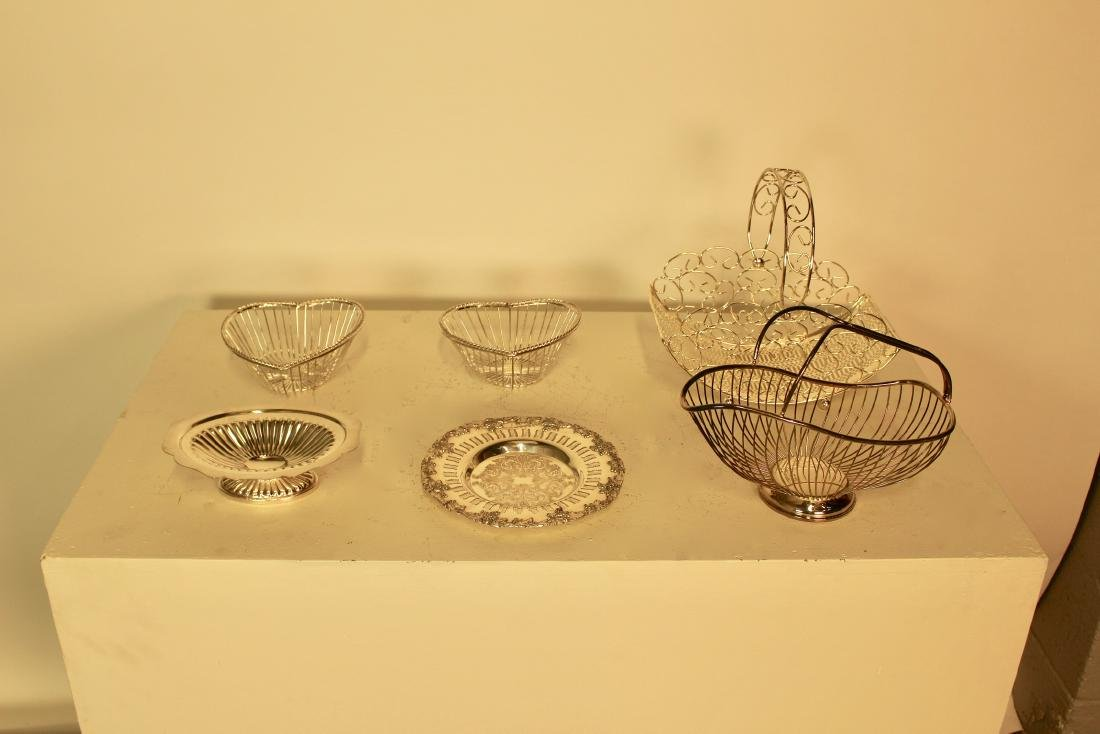 6 Silver Plate Pieces
