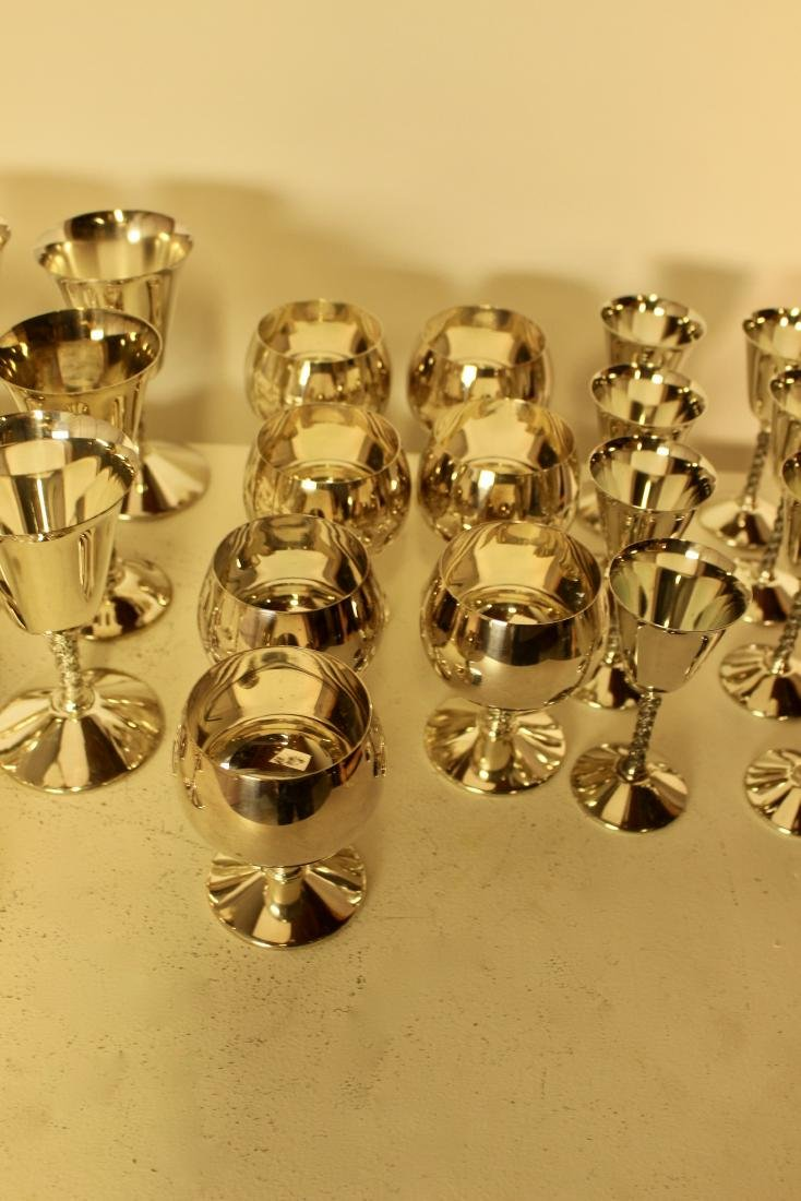 Set of 27 Silver Plate Cups - 3