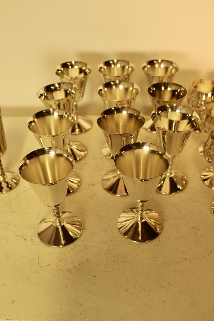 Set of 27 Silver Plate Cups - 4