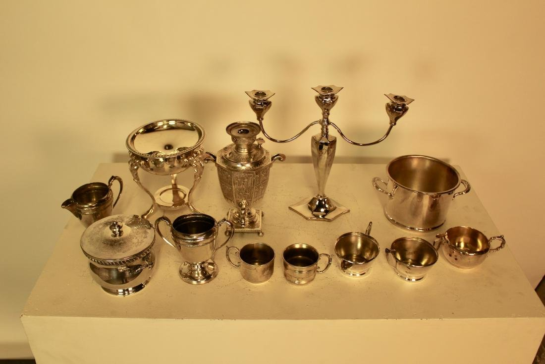 12 Assorted Silver Plate Pieces