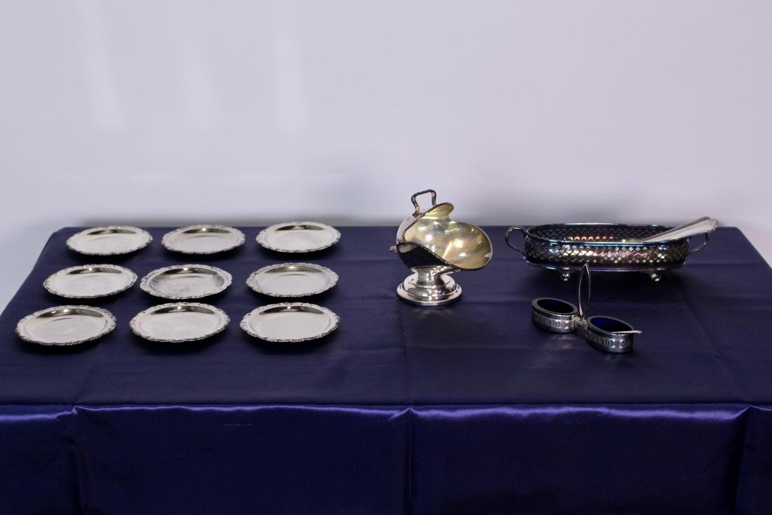 Set of 19 Assorted Silver Plate Pieces