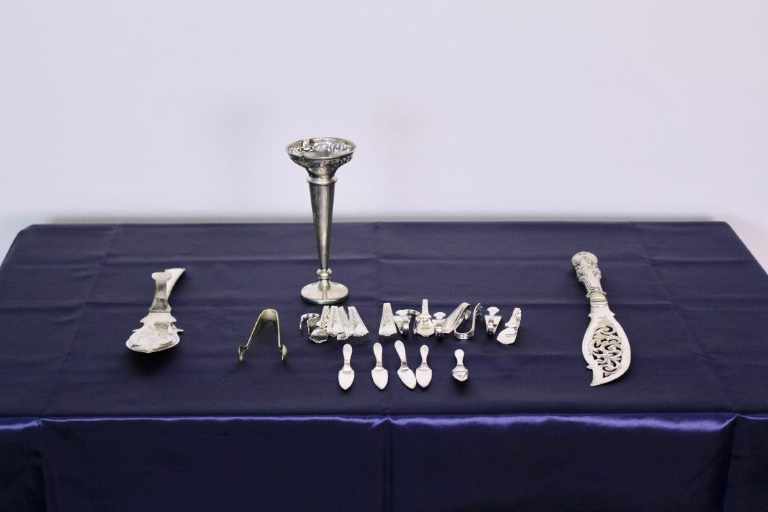 Large Set of 22 Silver Plate Pieces