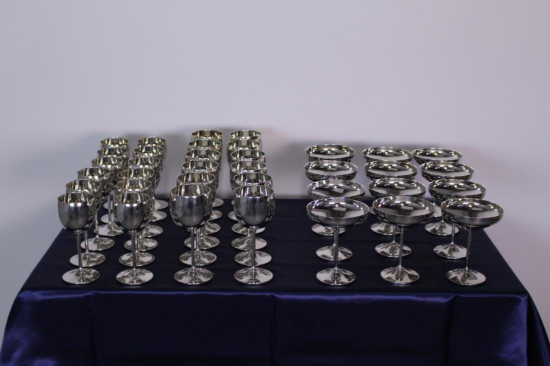 A Set of Never Used 36 Silver Plate Cups