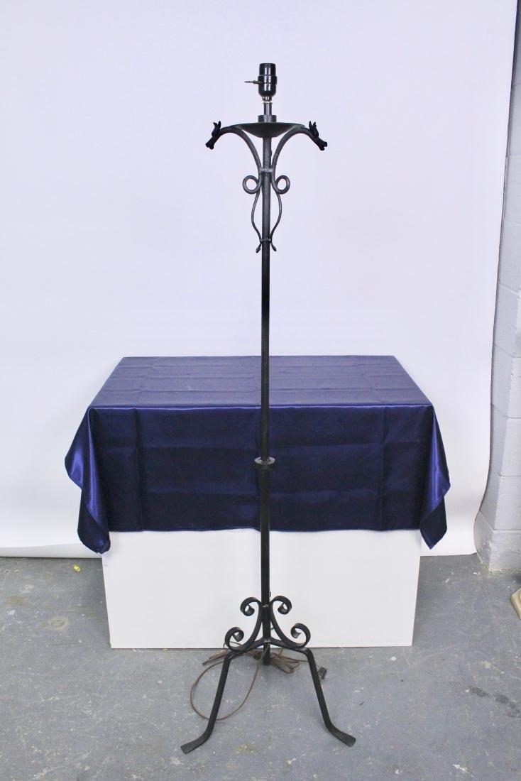 Wrought Iron Arts & Crafts Floor Lamp