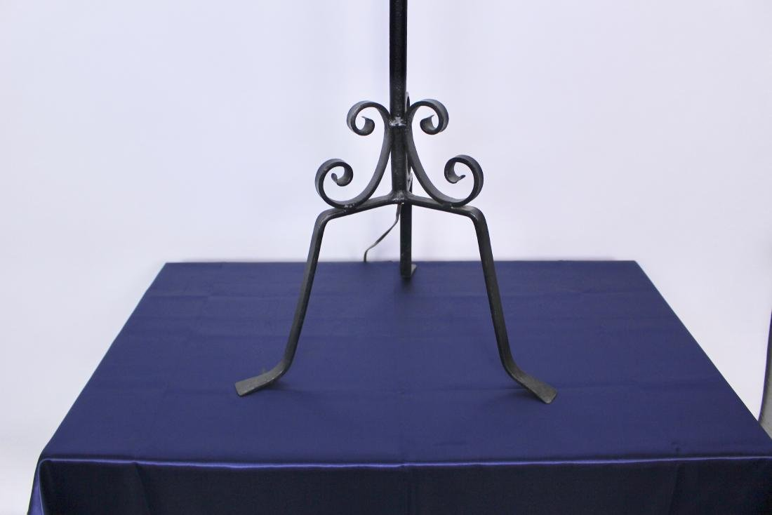 Wrought Iron Arts & Crafts Floor Lamp - 4