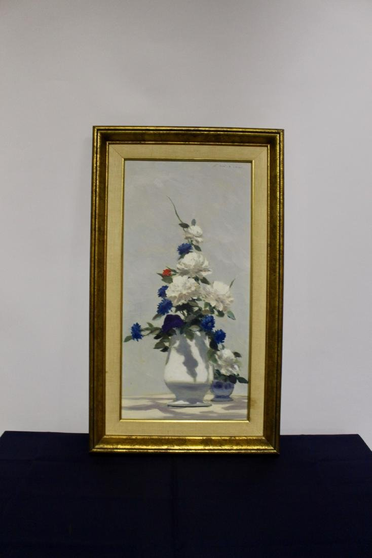 Oil Painting of Still Life in Frame