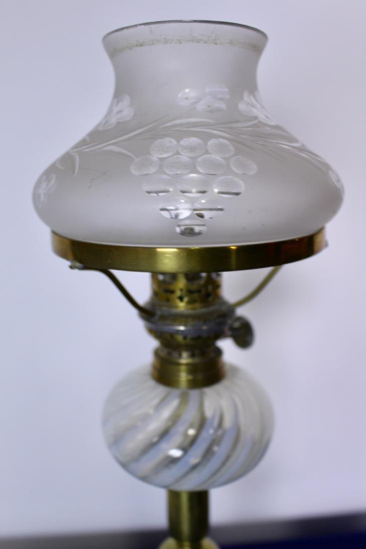 Rare Pair of Opalescent Glass Peg Lights - 4
