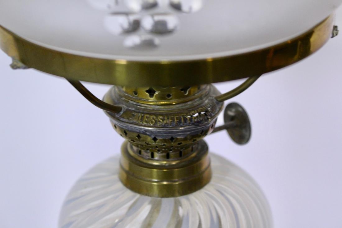 Rare Pair of Opalescent Glass Peg Lights - 7