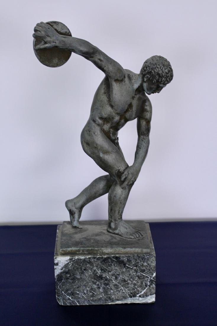 Bronze Sculpture of Disc Thrower