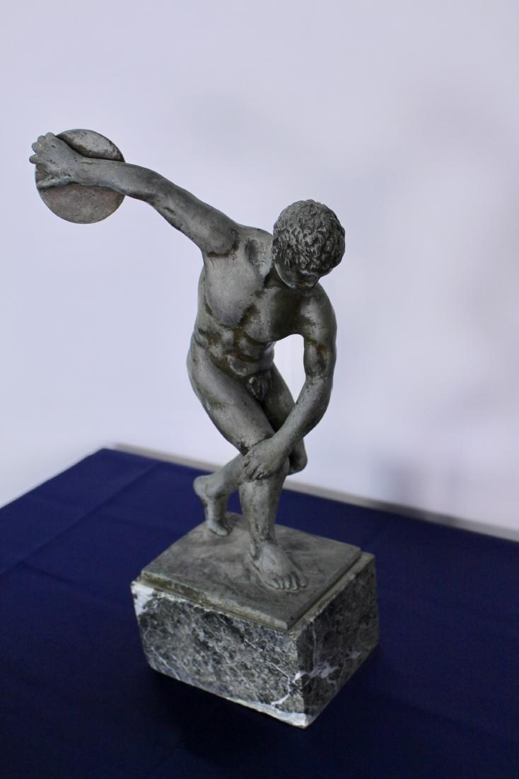 Bronze Sculpture of Disc Thrower - 2