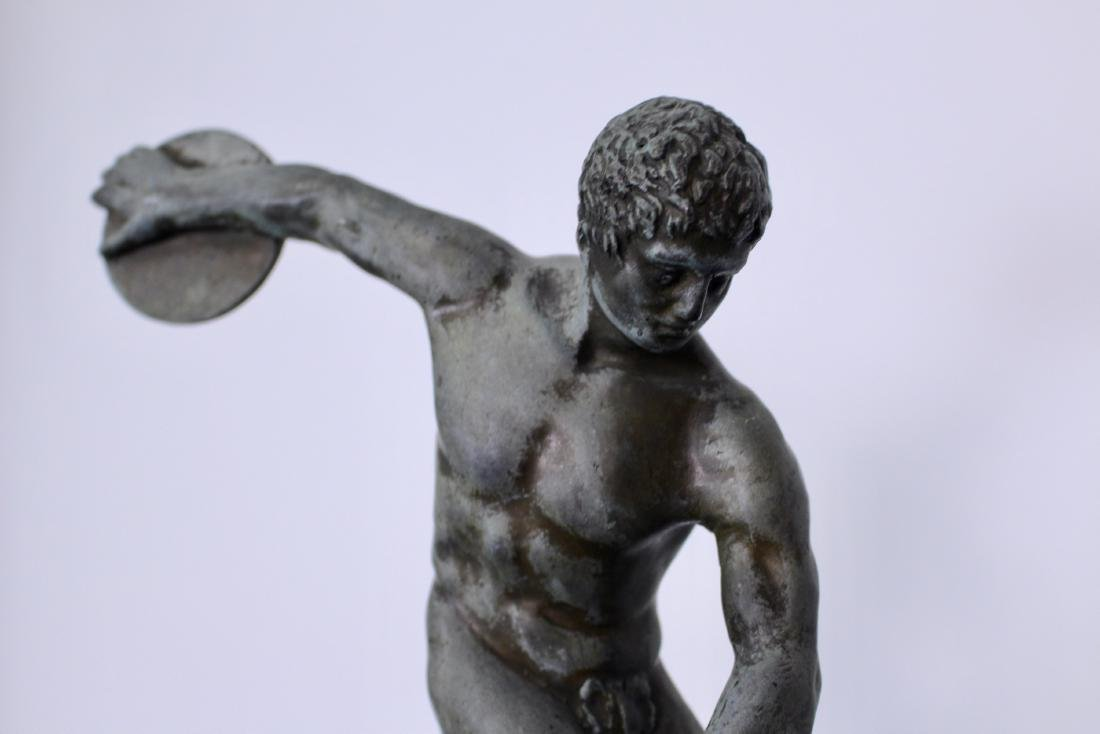 Bronze Sculpture of Disc Thrower - 3