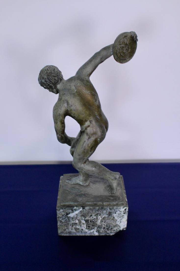 Bronze Sculpture of Disc Thrower - 5