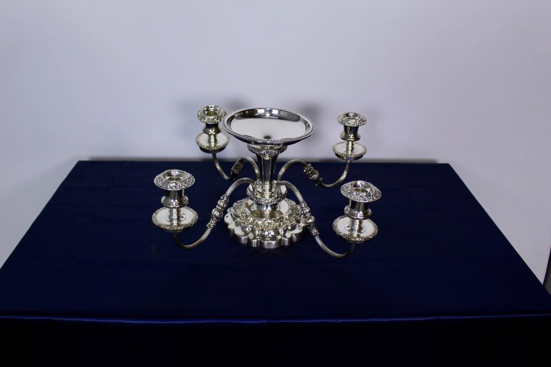 Four Light Silver Plate Candelabra