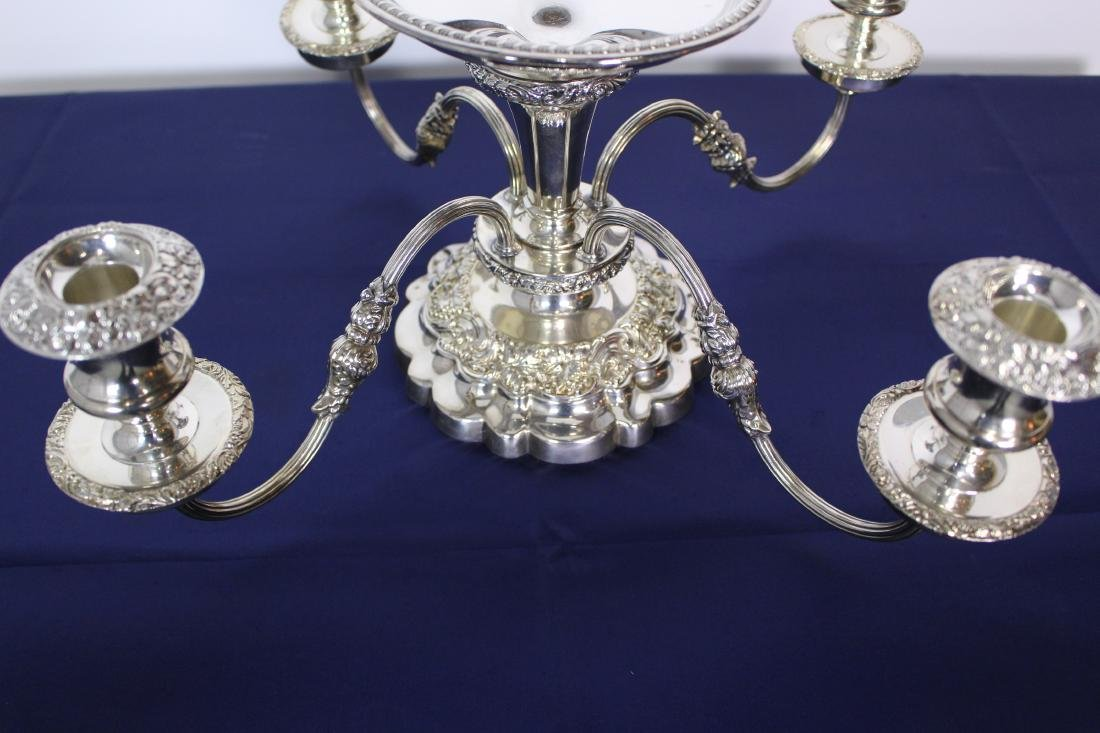 Four Light Silver Plate Candelabra - 2