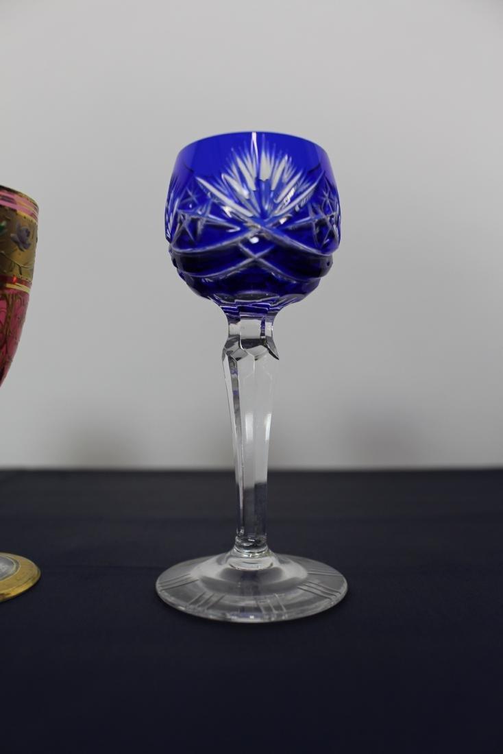 Set of 5 Moser Goblets - 2