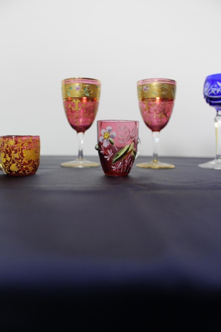 Set of 5 Moser Goblets - 4