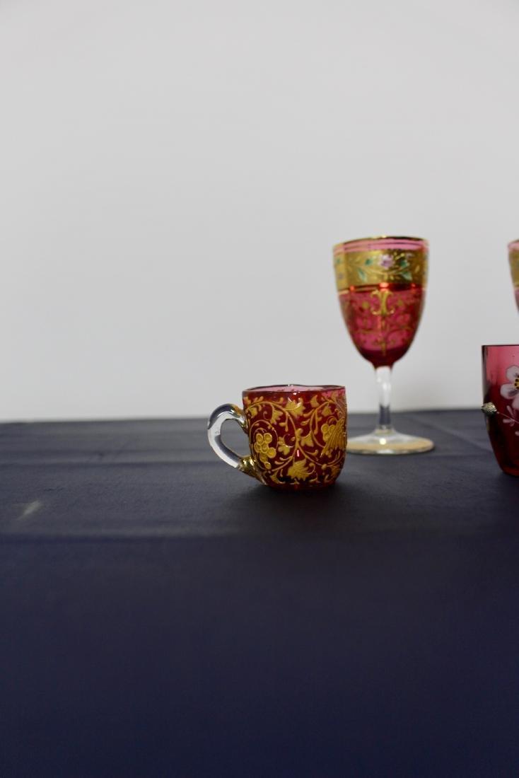 Set of 5 Moser Goblets - 5