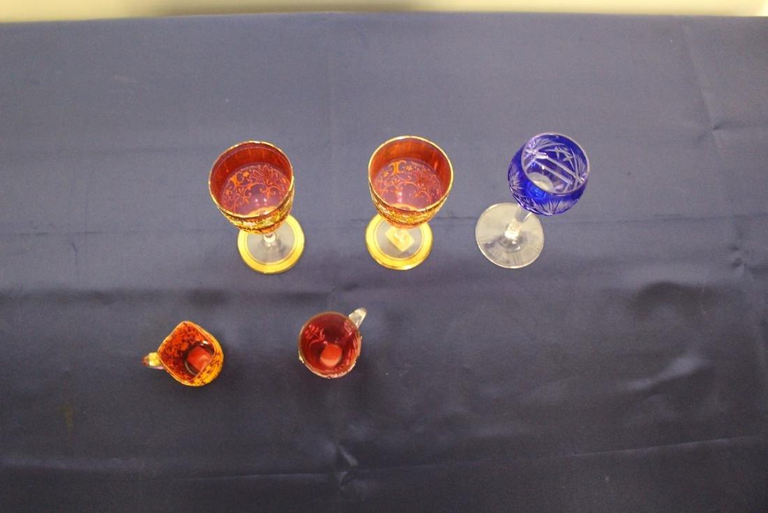 Set of 5 Moser Goblets - 6