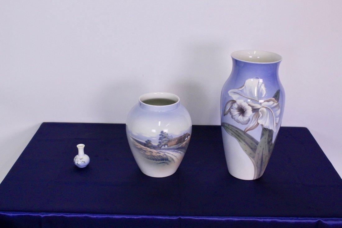 Three Royal Copenhagen Vases