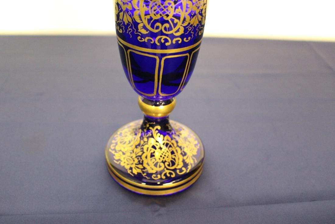 Moser Cobalt Blue Decorative Vase - 3