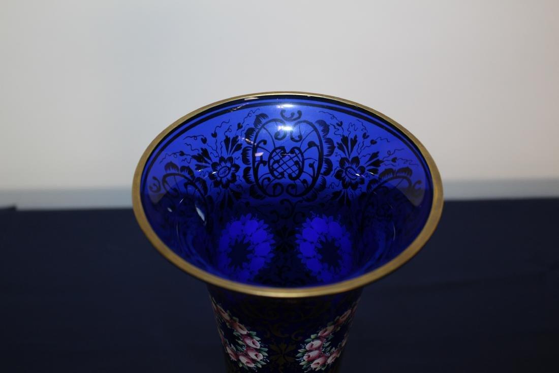 Moser Cobalt Blue Decorative Vase - 5