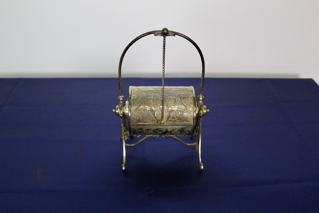 Silver Plated Decorated Dispenser