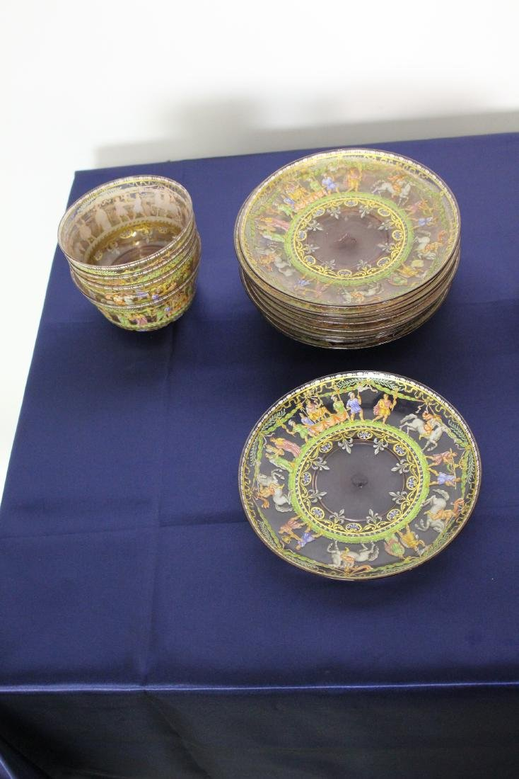 Set of 21 Excellent Decorated Venetian Glassware - 3
