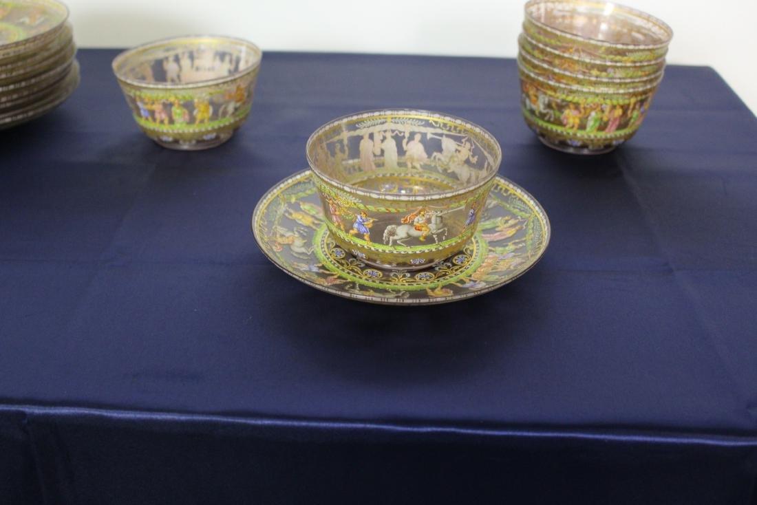 Set of 21 Excellent Decorated Venetian Glassware - 5