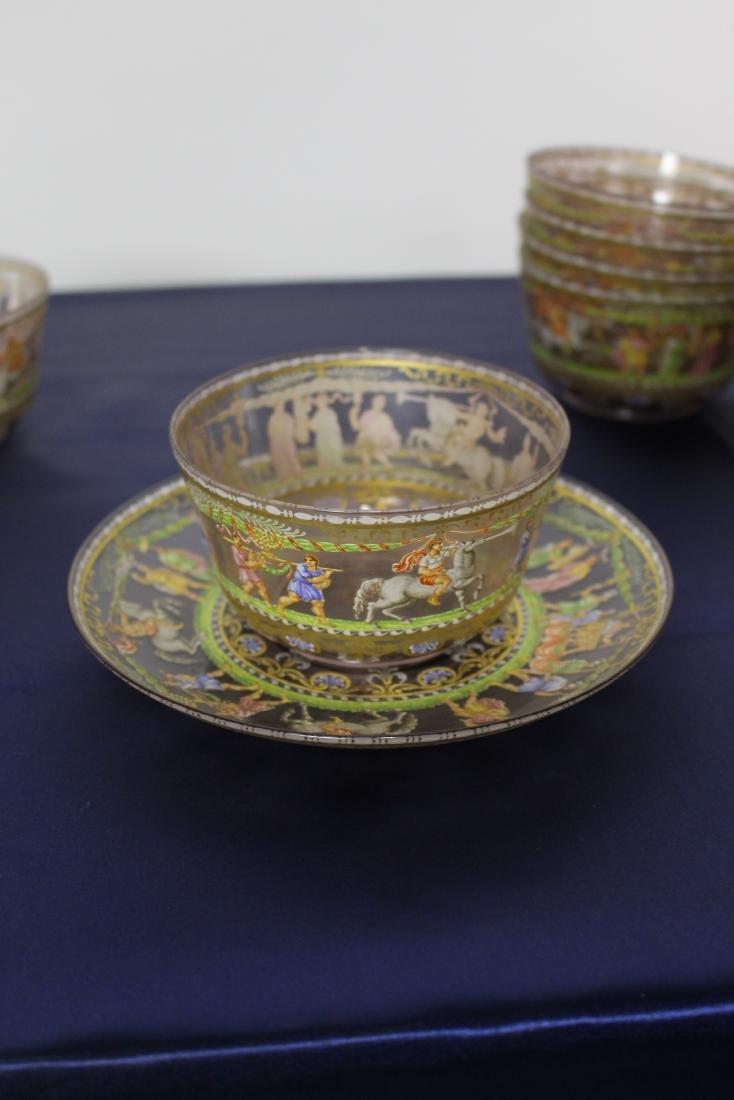 Set of 21 Excellent Decorated Venetian Glassware - 6