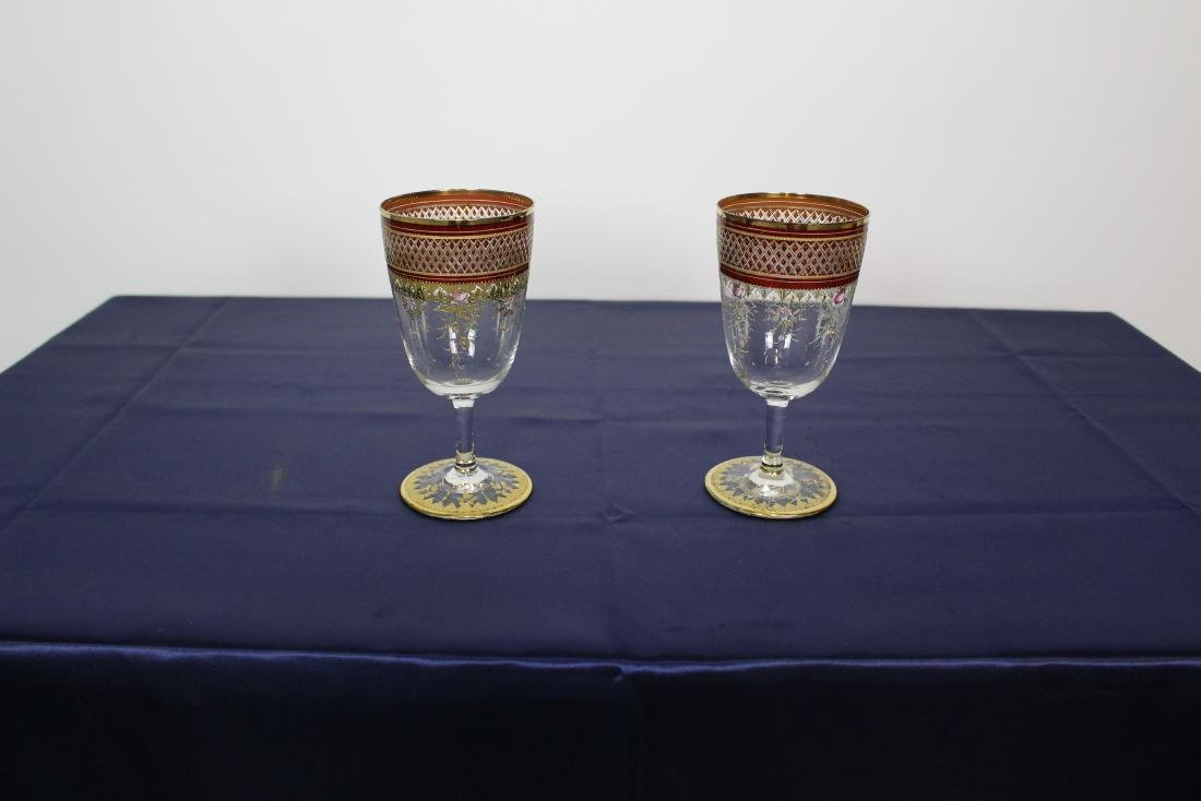 Pair of Moser Goblets