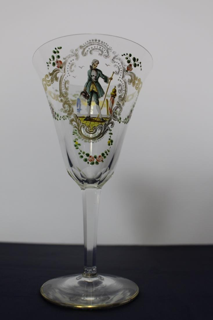 Pair of Decorated Venetian Goblets - 5