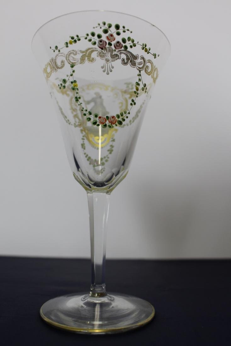 Pair of Decorated Venetian Goblets - 6