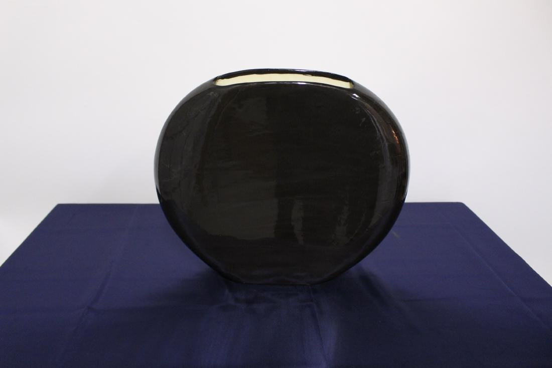Disk Shaped Ceramic Vase - 3