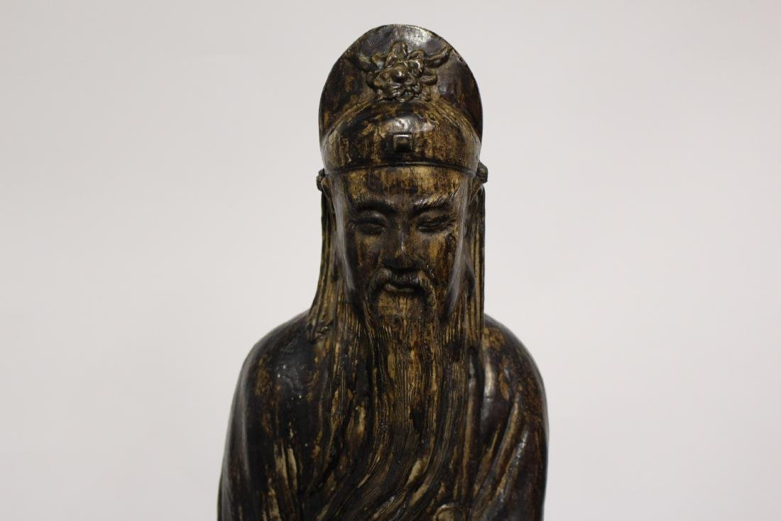 Patinated Large Plaster Sculpture of Chinese Scholar - 4