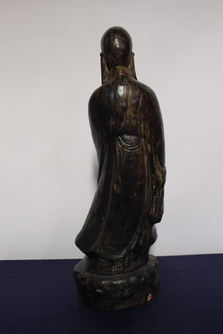 Patinated Large Plaster Sculpture of Chinese Scholar - 5