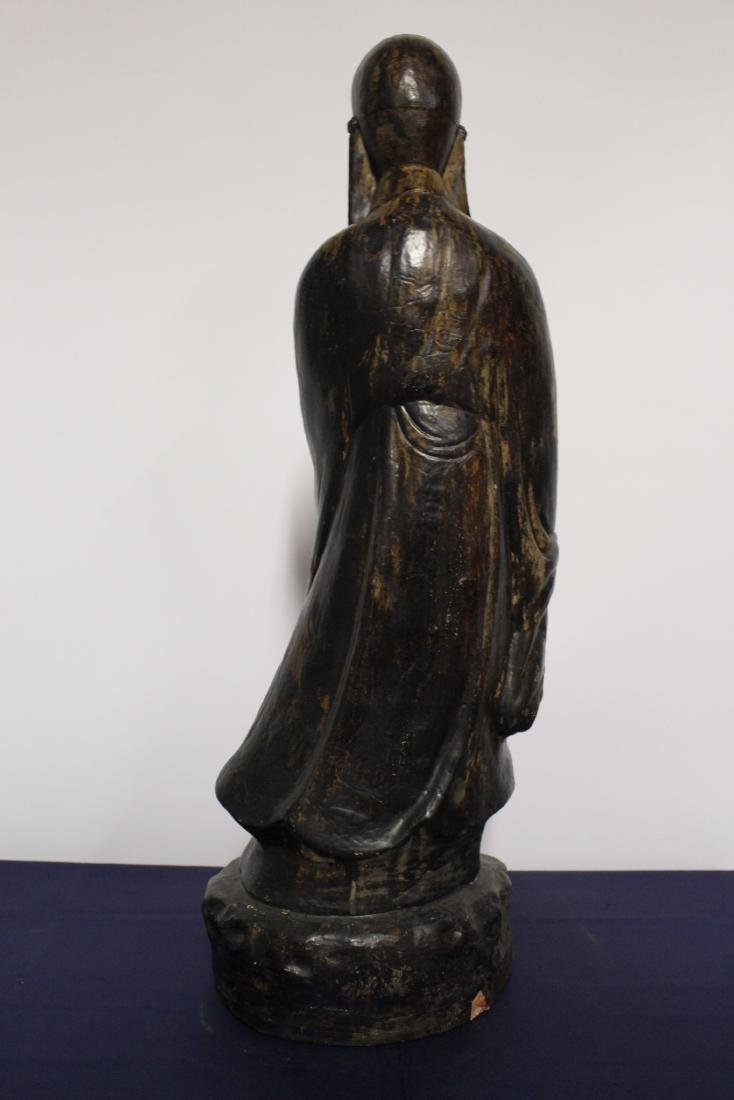 Patinated Large Plaster Sculpture of Chinese Scholar - 6