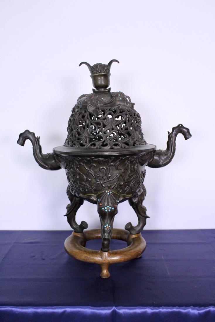 Ming Dynasty Bronze Censer