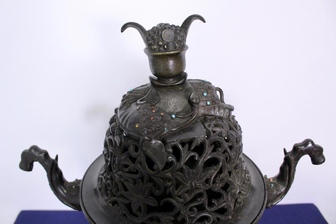 Ming Dynasty Bronze Censer - 4
