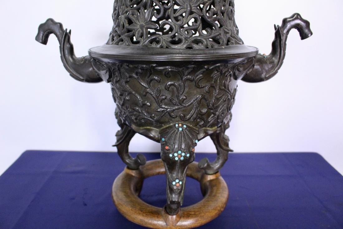 Ming Dynasty Bronze Censer - 6