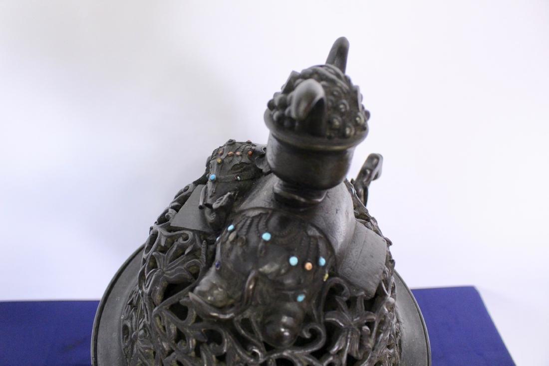 Ming Dynasty Bronze Censer - 7