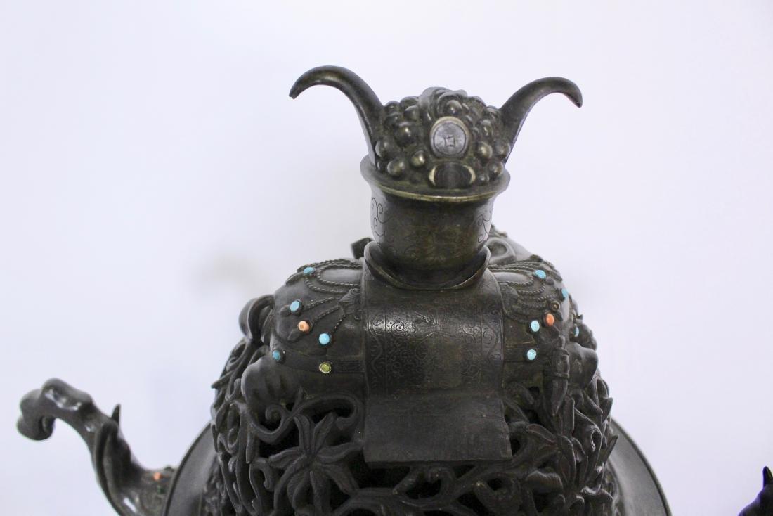 Ming Dynasty Bronze Censer - 8