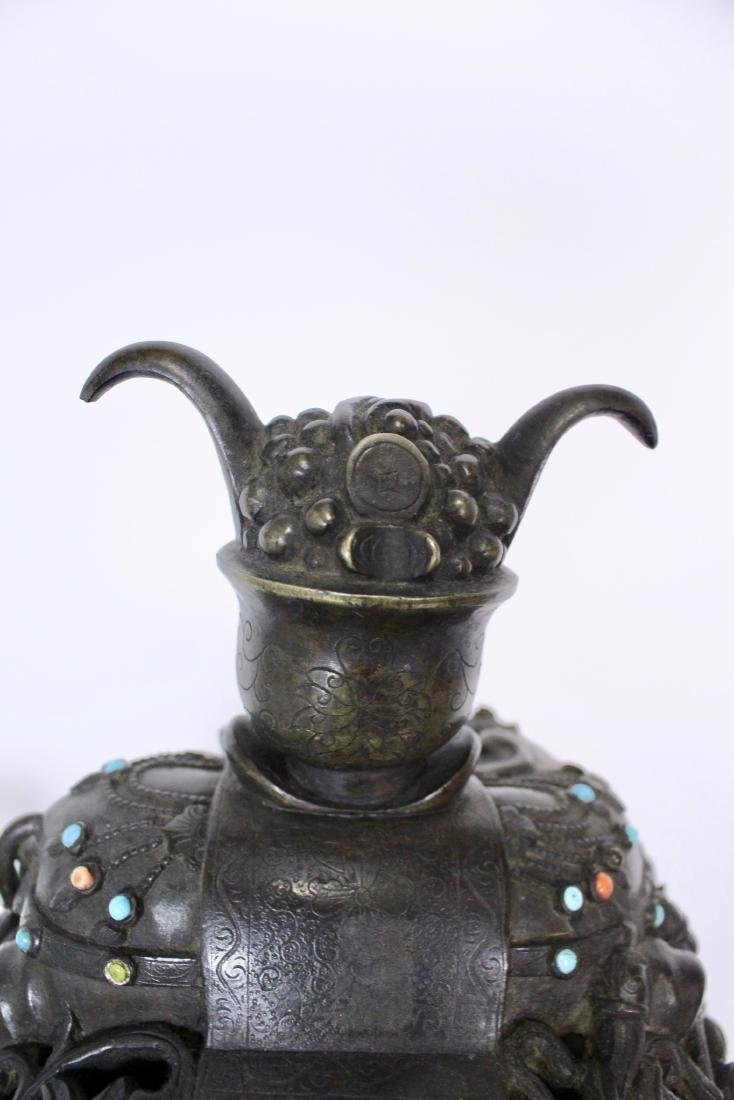 Ming Dynasty Bronze Censer - 9