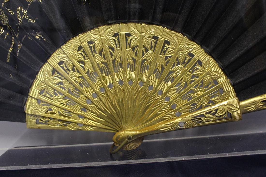 Pair of Antique Chinese Fans - 4