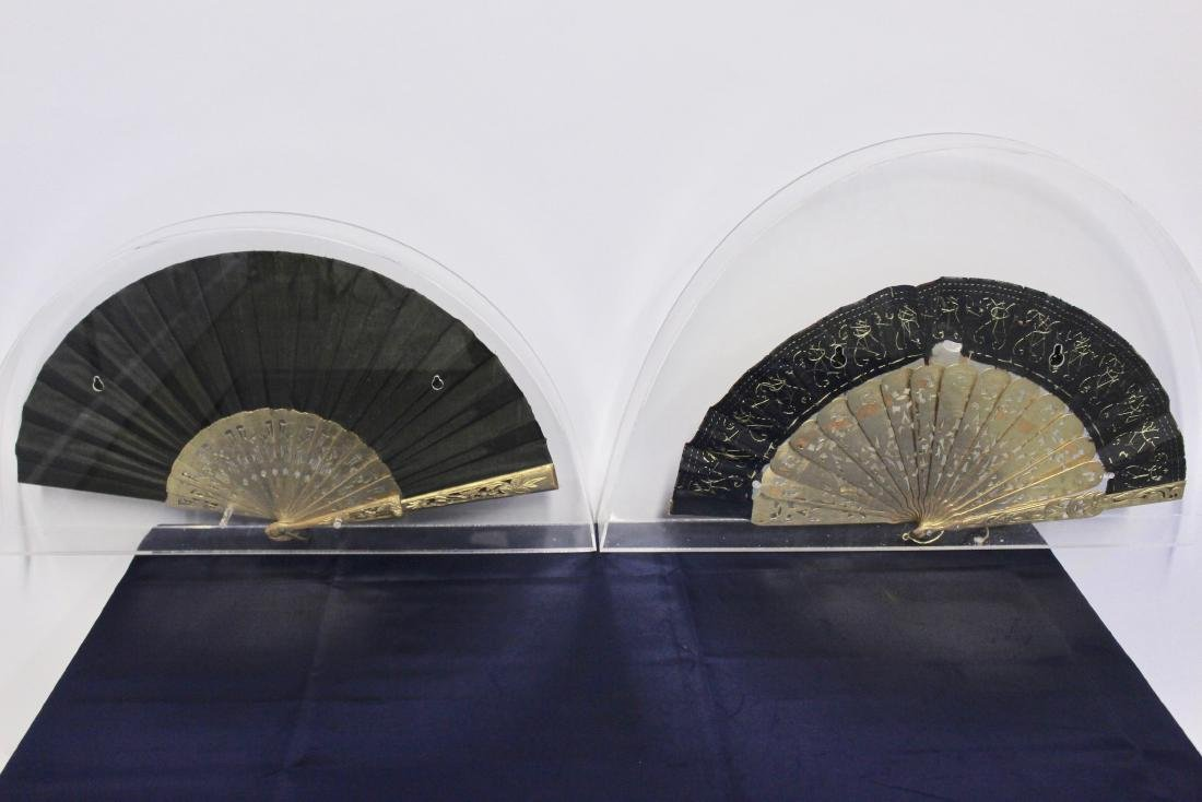 Pair of Antique Chinese Fans - 8