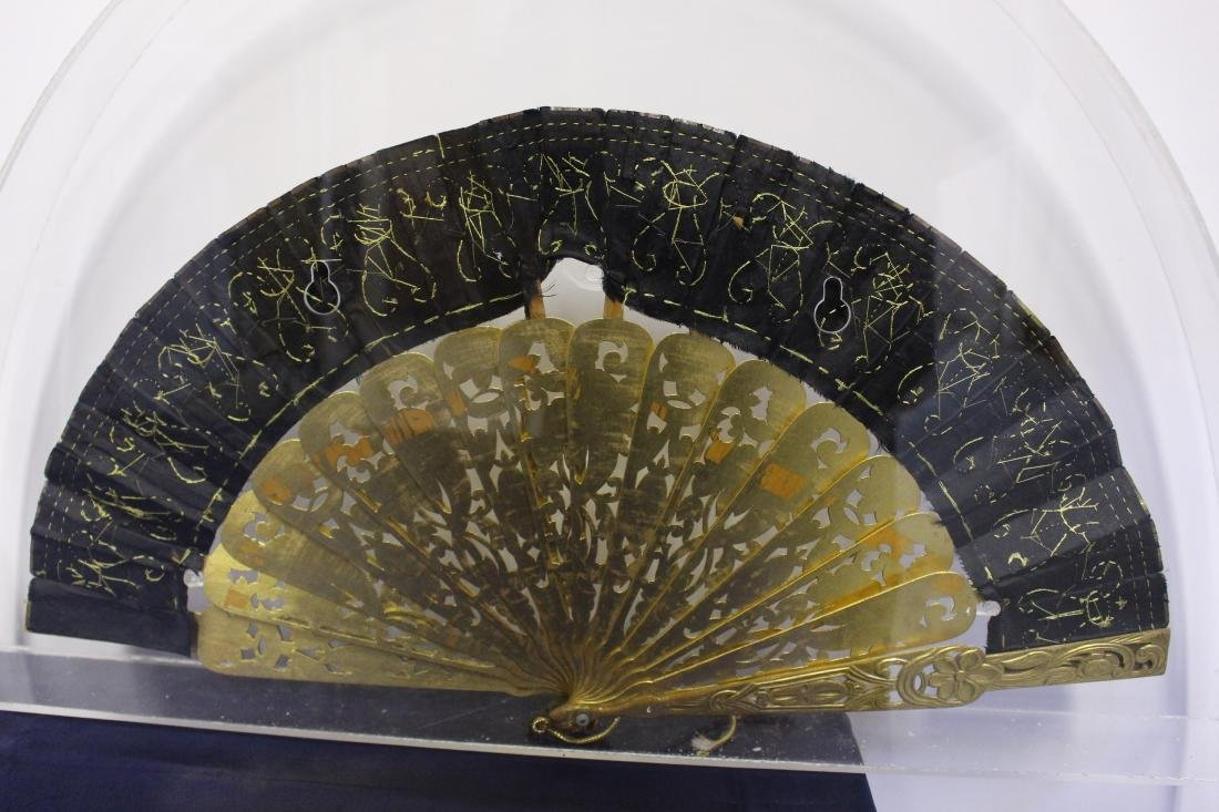 Pair of Antique Chinese Fans - 9